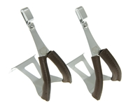 Picture of BLB Steel SB/SG Toe Clips w/leather - Silver