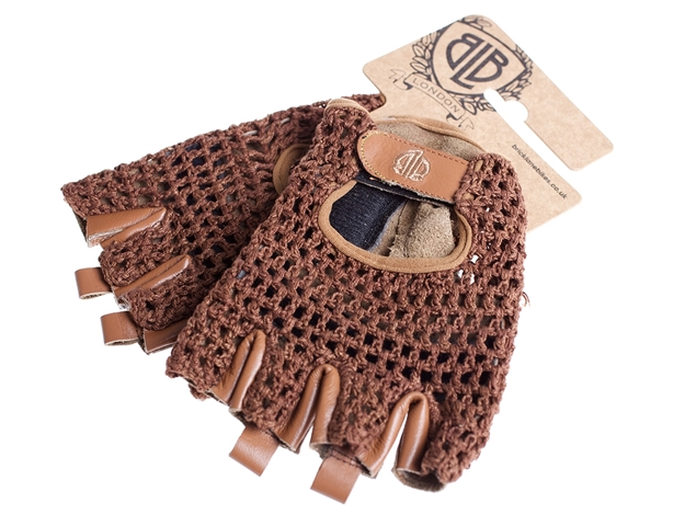 Picture of BLB Leather Cycling Gloves - Brown
