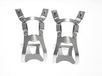 BLB Steel DB/DG Toe Clips - Silver