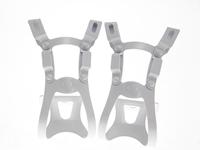 BLB Steel DB/DG Toe Clips - White