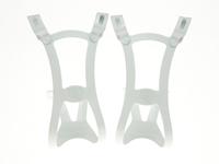 BLB Steel DB/SG Toe Clips - White