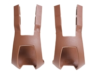 BLB Plastic DB/DG Toe Clips - Brown