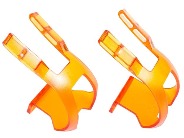 BLB Plastic DB/DG Toe Clips - CP Orange