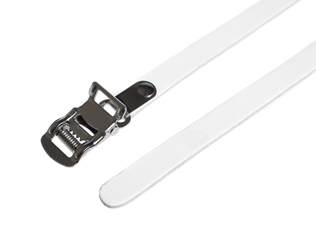 BLB Single Leather Straps - White