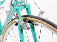 Via Canti Brake - Silver on bike