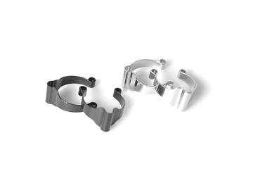 BLB Toptube Brake Cable Holder - Silver
