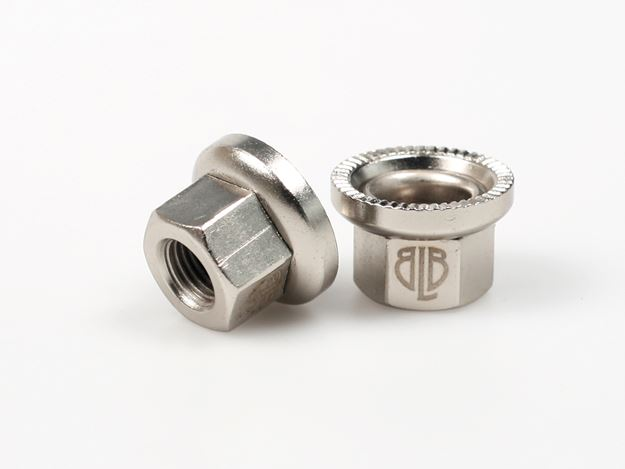 Picture of BLB Steel Track Nuts - Silver