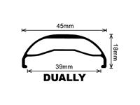 Velocity Dually Rim 26' - Polished