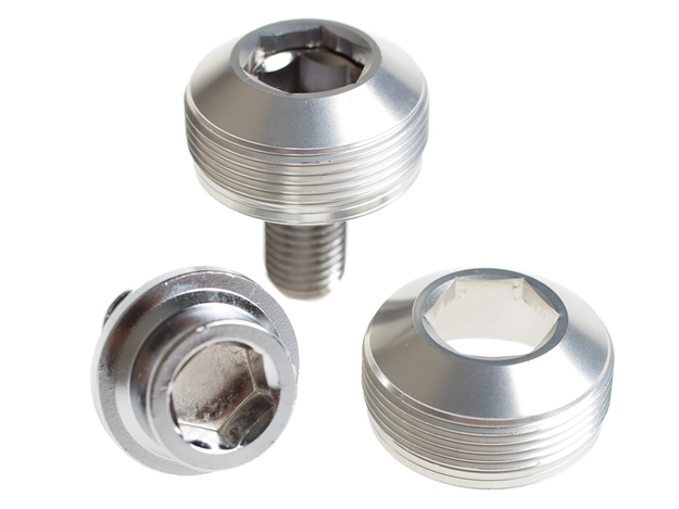 Picture of BLB Alloy Cup Crank Bolts - Silver