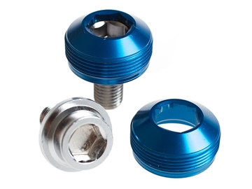 Picture of BLB Alloy Cup Crank Bolts - Blue