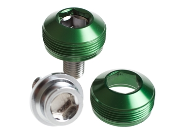 Picture of BLB Alloy Cup Crank Bolts - Green