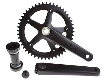 Picture of BLB Notorious Track Crankset - Black
