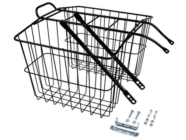 Picture of Wald 520 Twin Carrier Basket - Black
