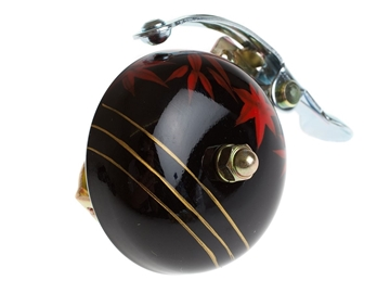 Crane Hand Painted Bell - Black Maple