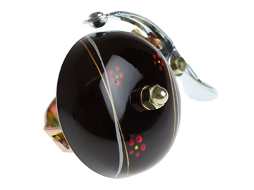 Crane Hand Painted Bell - Black Night