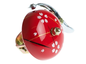 Crane Hand Painted Bell - Red Spring