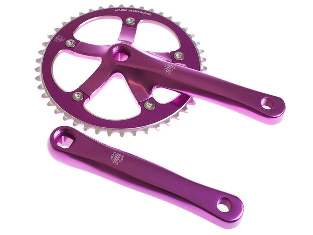 BLB Track Crankset - Purple