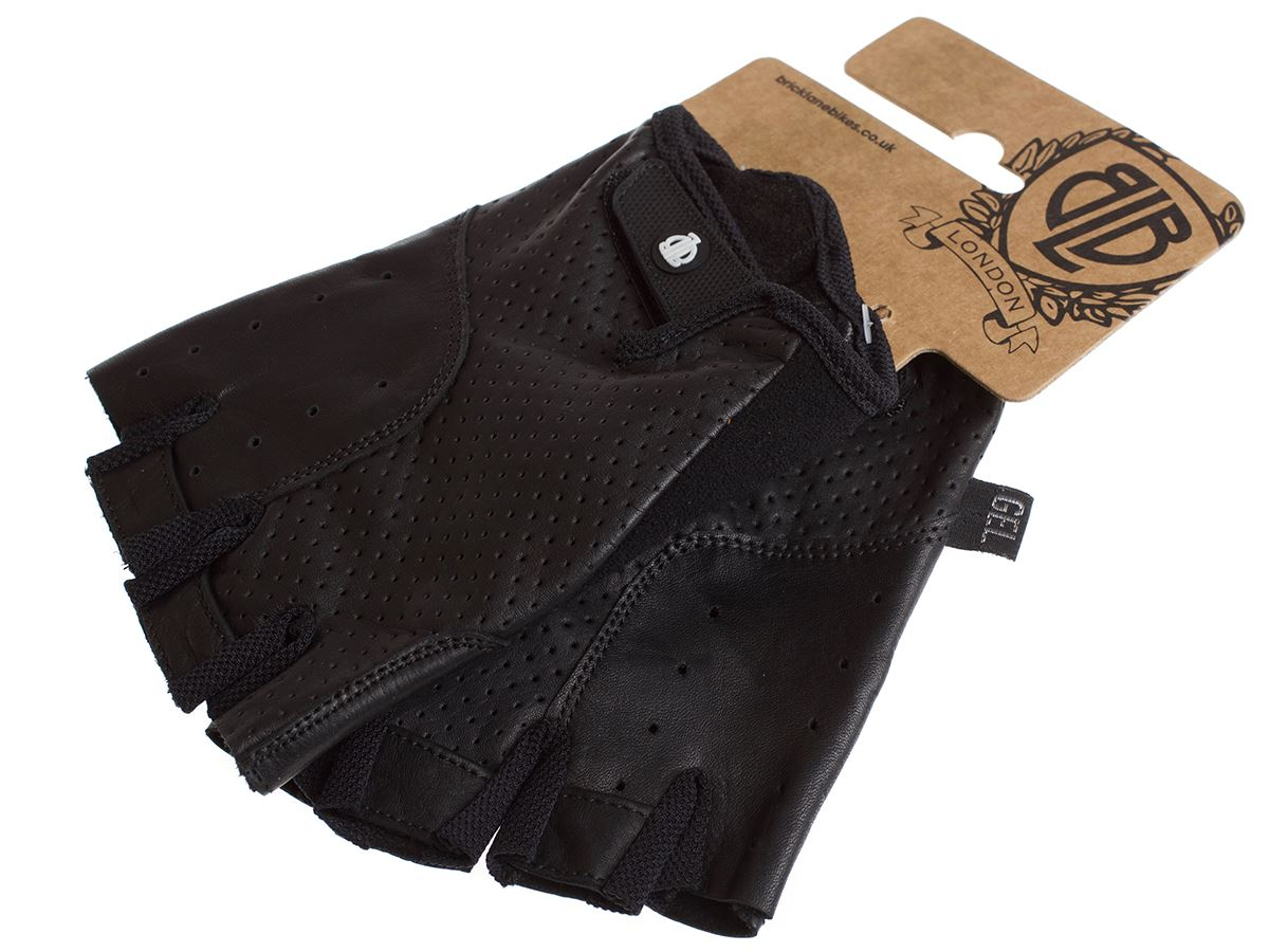 BLB Classic Sport Leather Cycling Gloves - Black