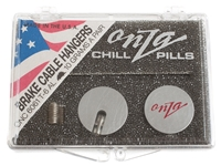 Picture of Onza Chill Pill Brake Cable Hangers - Silver