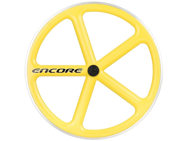 Picture of Encore Wheel - Zinc Yellow MSW - Carbon Weave