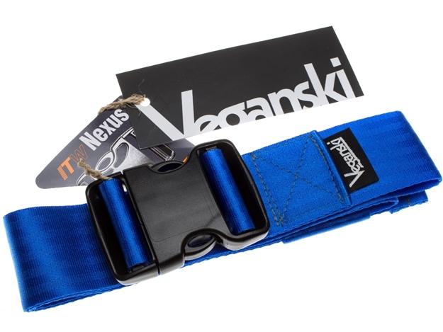 Picture of Veganski Belt with plastic buckle - Blue