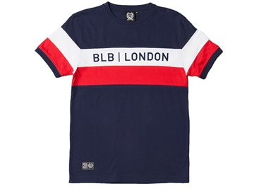 Picture of BLB Cut & Sew Tee - Navy/White/Red
