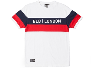 Picture of BLB Cut & Sew Tee - White/Navy/Red