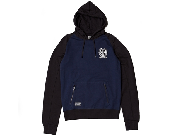 Picture of BLB Large Badge Overhead Hoodie - Navy/Black