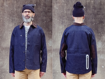 Picture of Hjul Workwear Jacket - Navy Denim