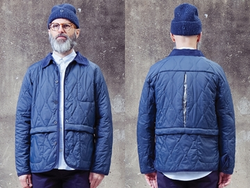Picture of Hjul Quilted Jacket - Navy