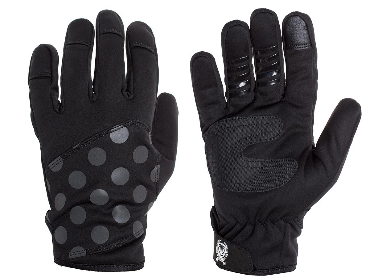 BLB Polkadot Shield Cycling Gloves - Black