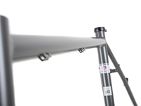 BLB Hitchhiker Frameset Satin Ti Grey Top Tube