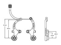 Paul Components MiniMoto Brake dimensions