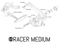 Picture of Paul Components Racer Medium Rear Brake - Silver