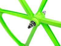 Teny 6 Spoke Front Wheel - Green