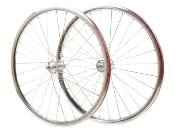 Picture of Novatec Wheel Set - Polished Silver