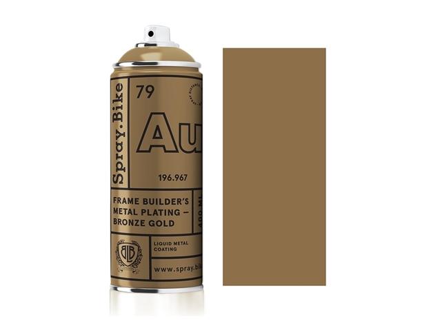 Spray.Bike Frame Builder's Metal Plating - Bronze Gold