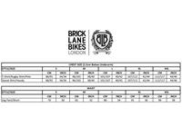 BLB Bike Tee sizing