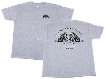 year of the rat, rat, 2020, t-shirt, tee, grey