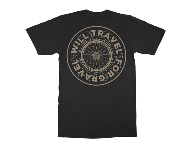 Picture of Restrap Will Travel For Gravel Tee - Black