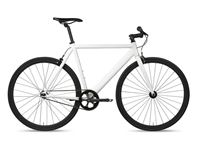 6KU Track Bike White