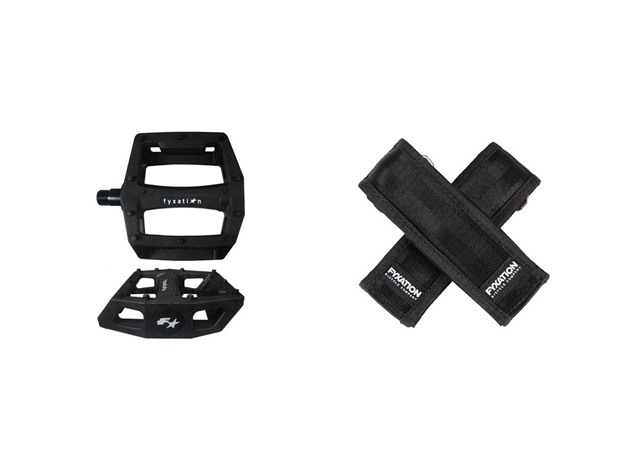 Picture of Fyxation Gates Pedal with Strap Kit - Black/Black