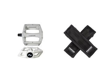 Picture of Fyxation Gates Pedal with Strap Kit - White/Black