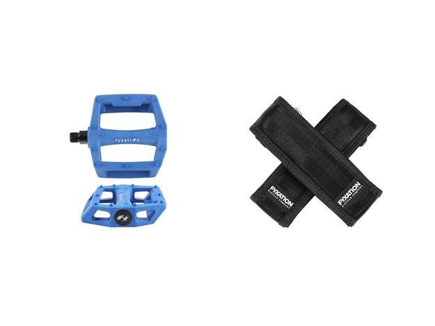 Fyxation Gates Pedal with Strap Kit - Blue/Black