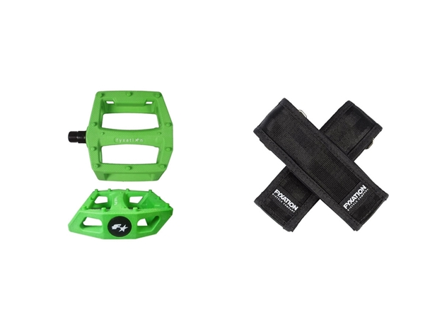 Picture of Fyxation Gates Pedal with Strap Kit - Green/Black