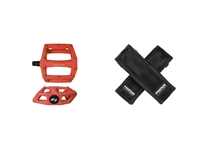 Fyxation Gates Pedal with Strap Kit - Orange/Black