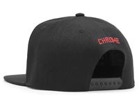 Chrome Baseball Cap - Black/Red