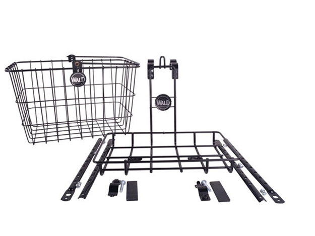 Wald 3339 Multi-Fit Front Basket and Rack Combo - Black
